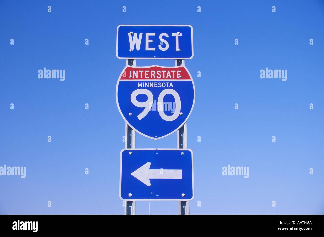 Minnesota Highway Sign Stock Photos Minnesota Highway Sign Stock - Us-interstate-90-map