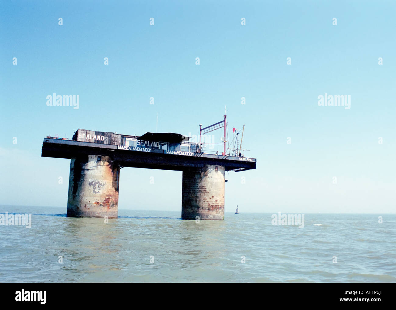 The Principality of Sealand, a micronation 12 nautical miles from the British coast. - Stock Image