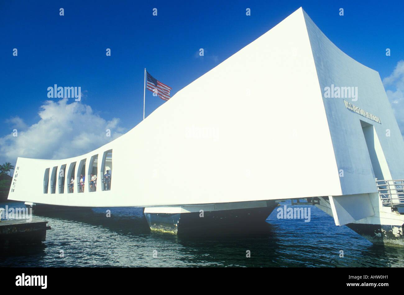 USS Arizona Memorial Museum Pearl Harbor Oahu Hawaii Stock Photo