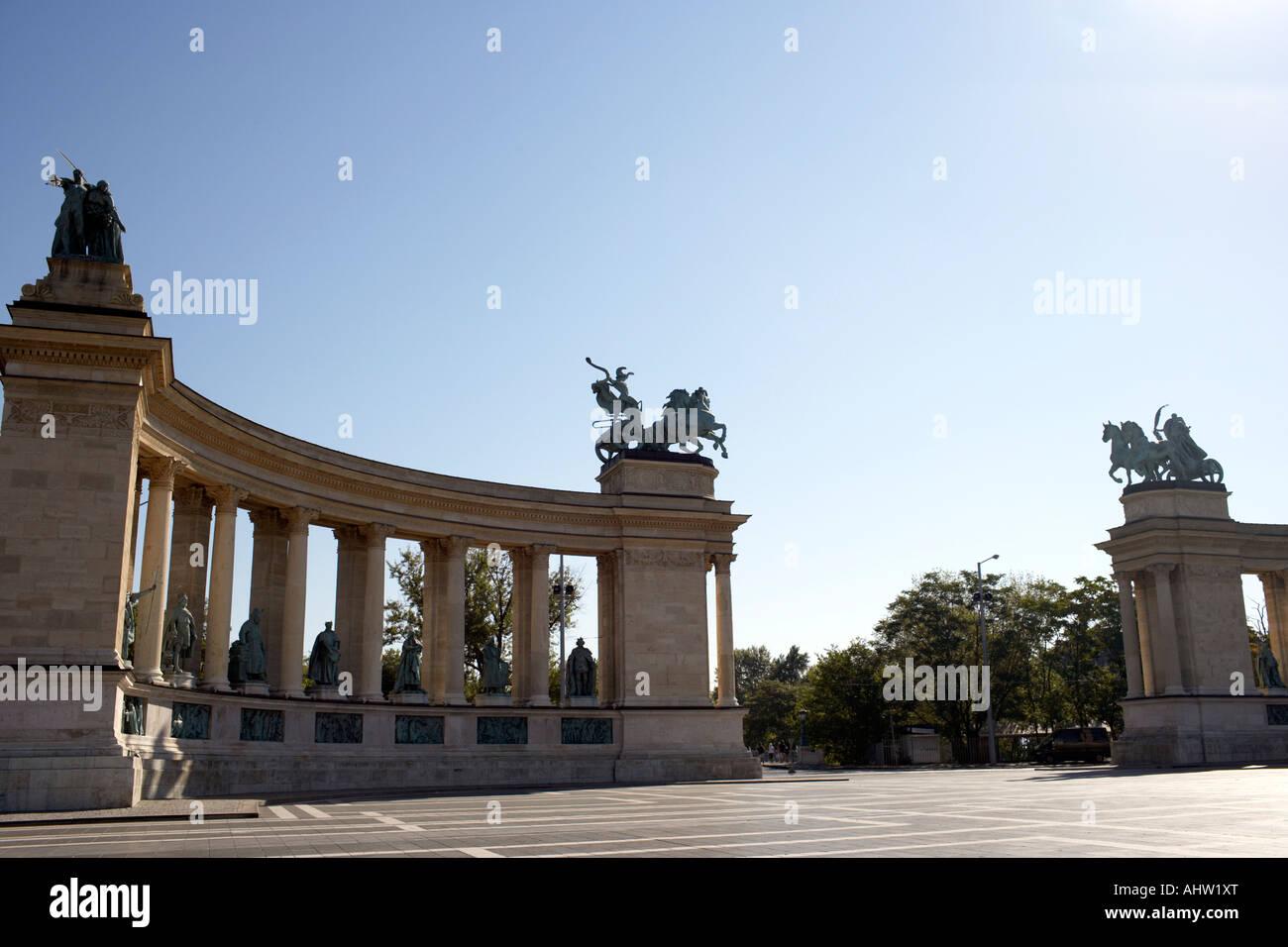 Hero Square in Hungary. - Stock Image