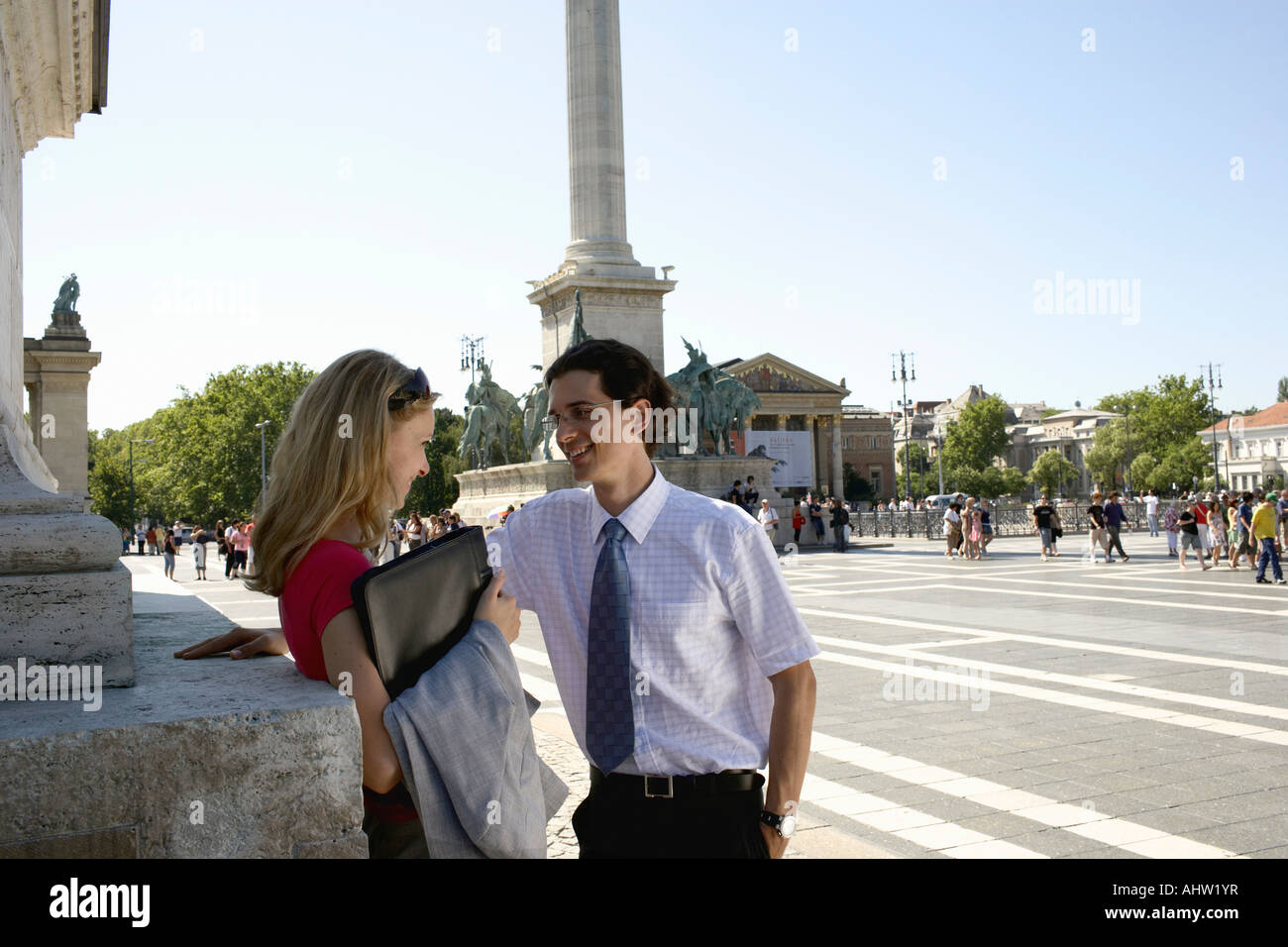 Businesspeople at Hero Square. - Stock Image