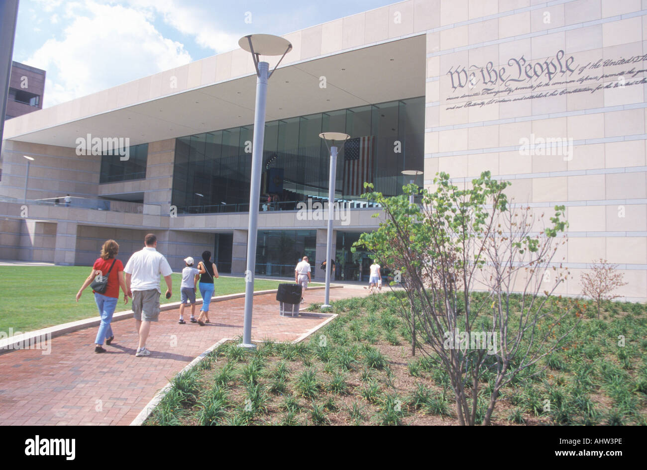 National Constitution Center for the U S Constitution on Independence Mall Philadelphia Pennsylvania - Stock Image