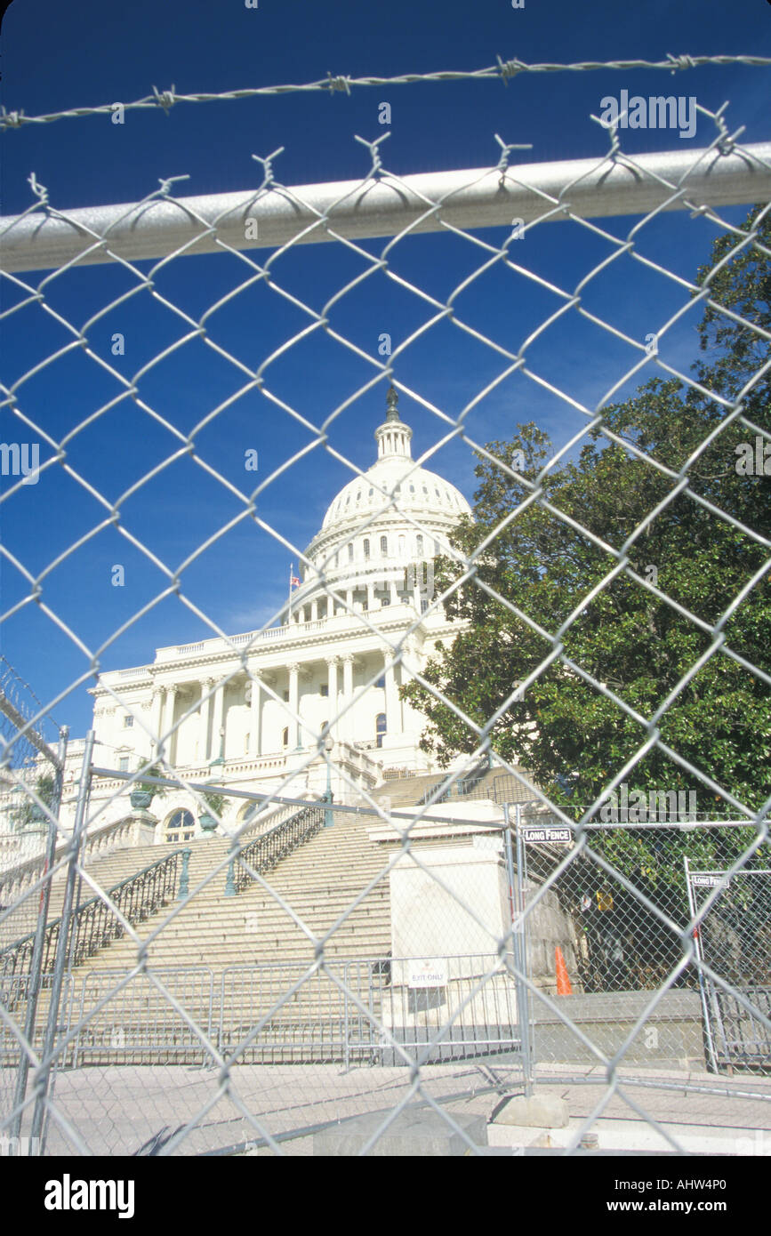 Restricted access to the Capitol Building post 9 11 Washington D C - Stock Image