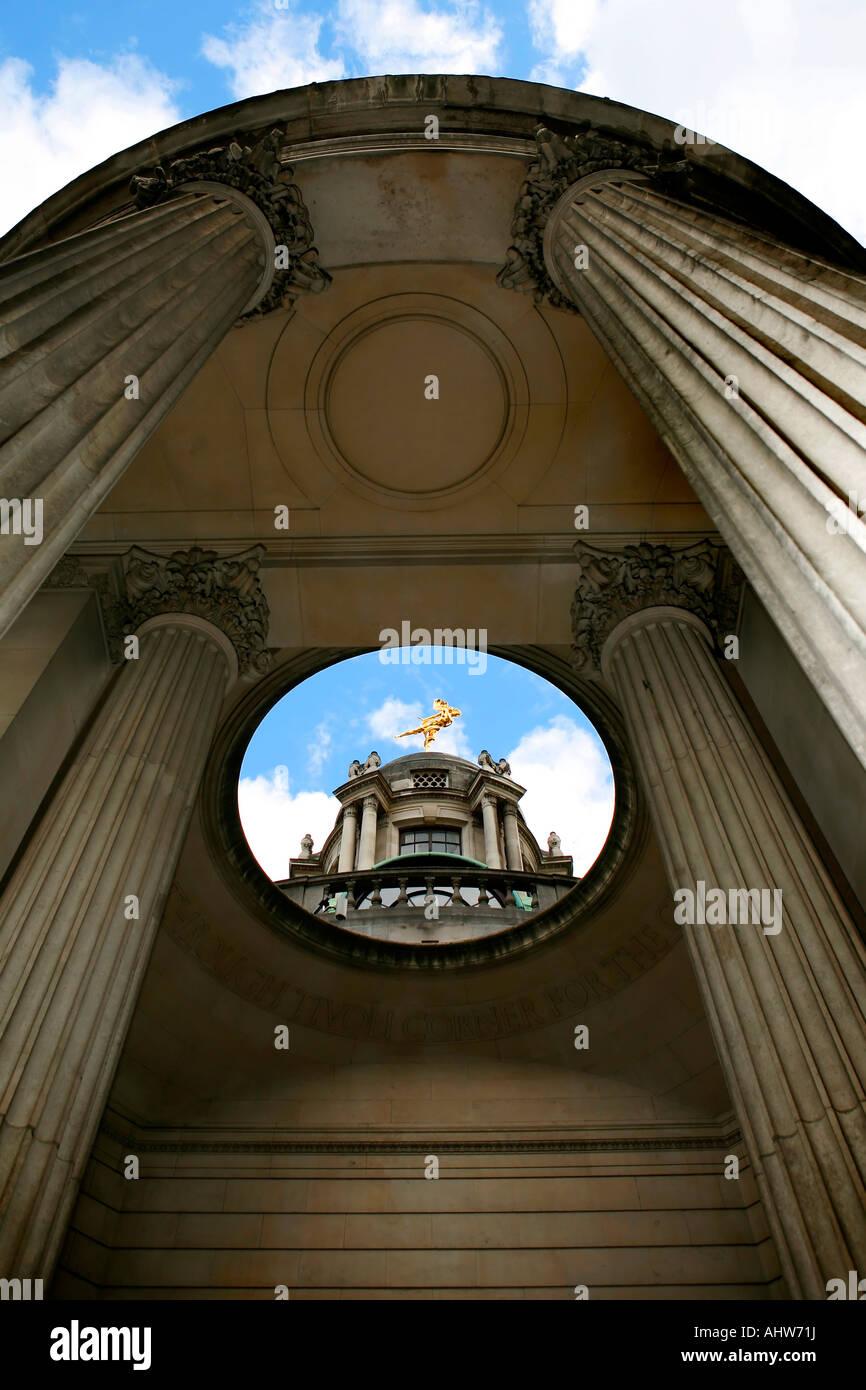 London UK England Architecture Building famous Landmark Horizontal Location shot no people Non figurative Upright - Stock Image