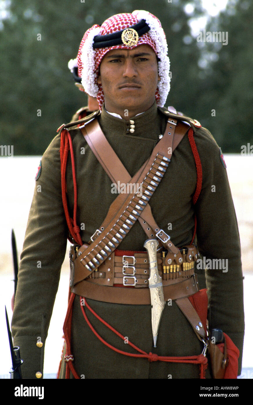 Soldier In Traditional Bedouin Headress And Uniform Of The