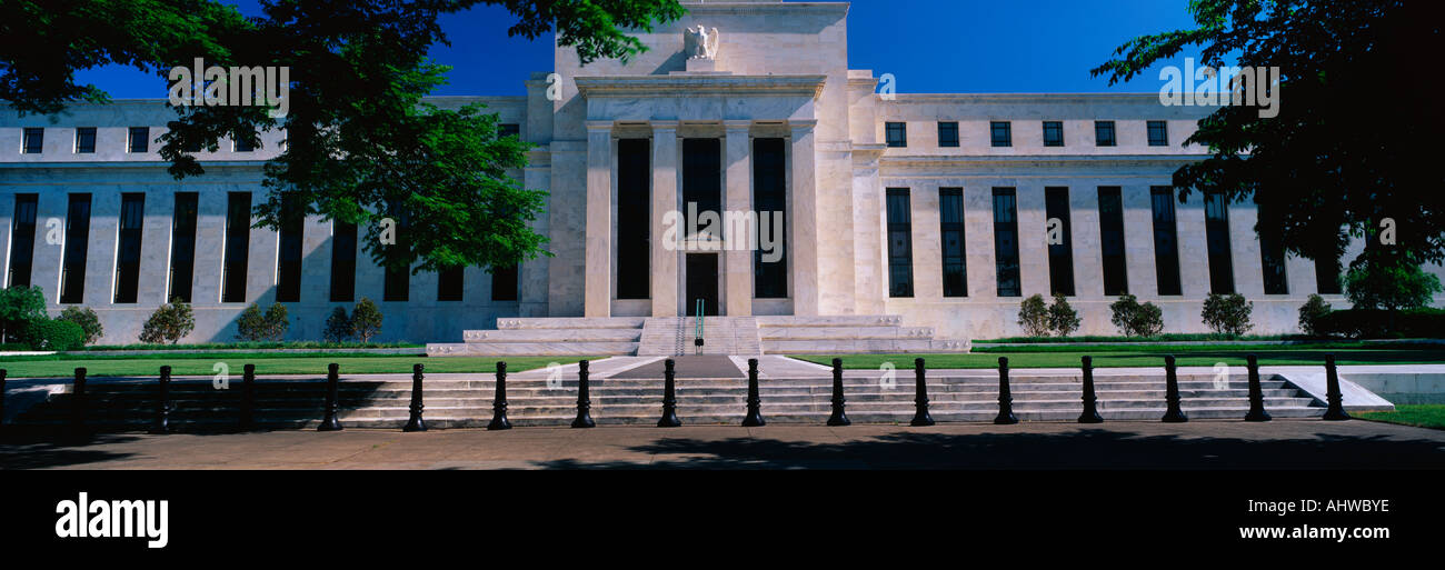 This is the Federal Reserve Bank also known as The Fed where they make monetary policy Its Federal Chairman is Alan Greenspan - Stock Image