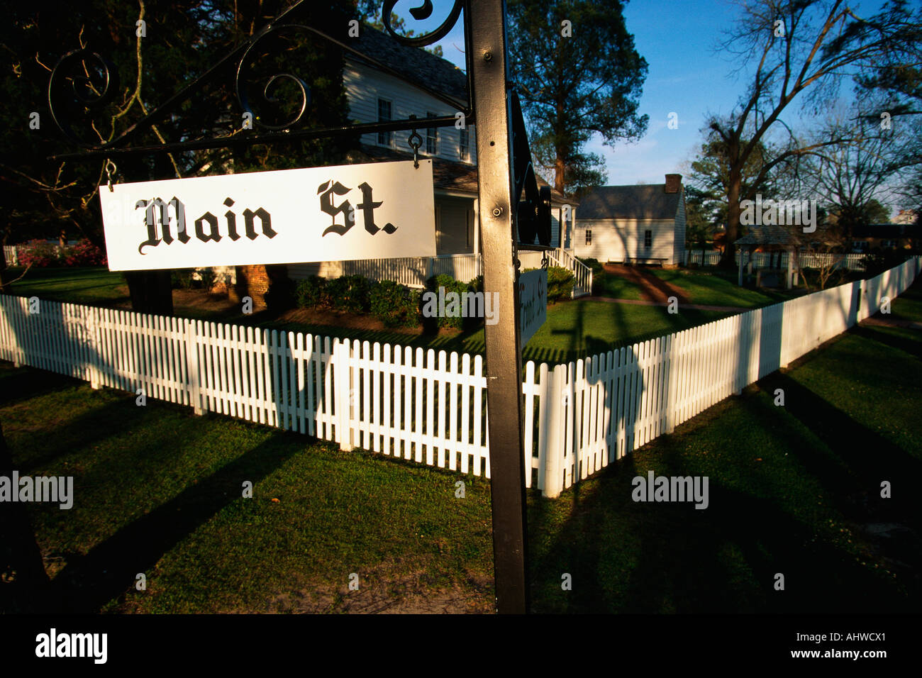 Bath North Carolina Stock Photos Images Wiring Harness Alligator Fence This Is A Photo Of Typical Suburban House On Main Street Usa There
