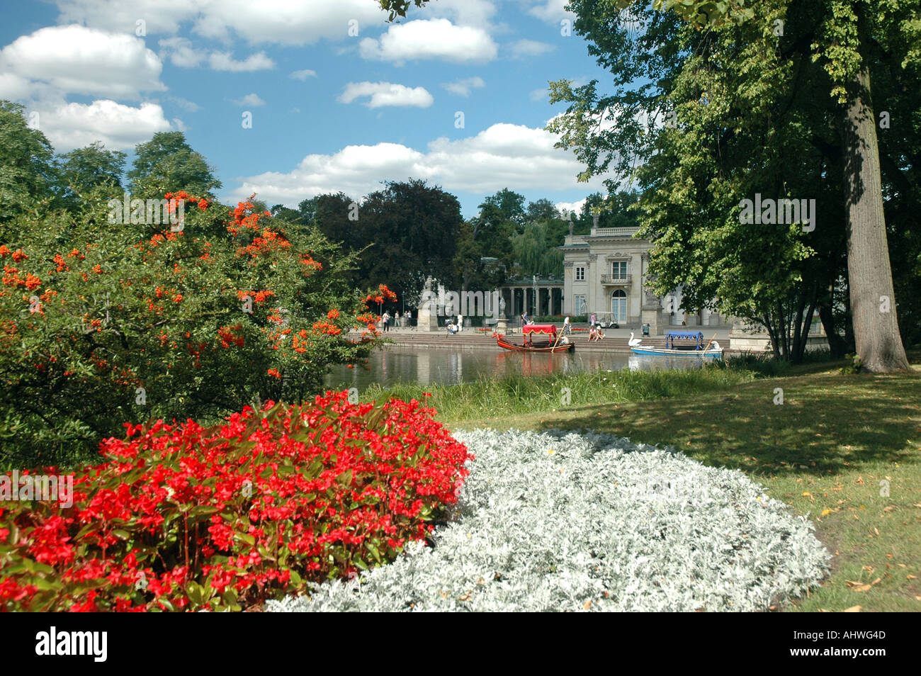 Palace On The Water In Royal Lazienki Park In Warsaw Poland