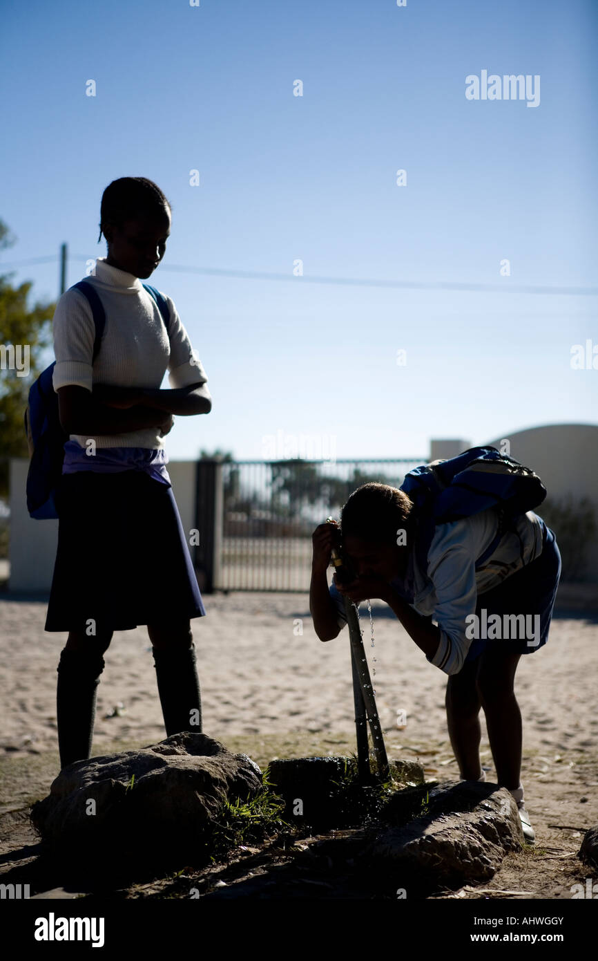 School girls in Namibia, Africa - Stock Image