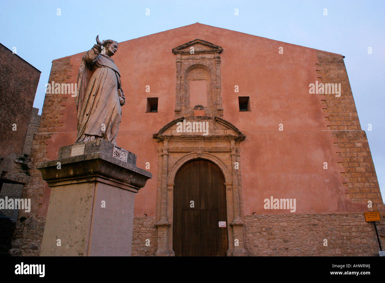 Photo by Marc F Henning Erice at sunset in Sicily Italy Stock Photo