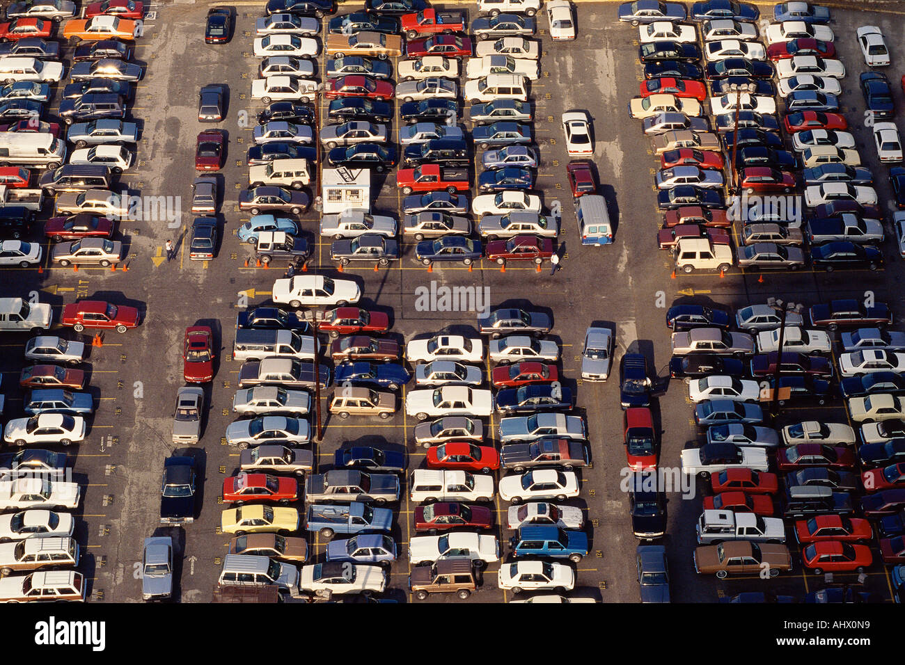 Crowded parking loot - Stock Image