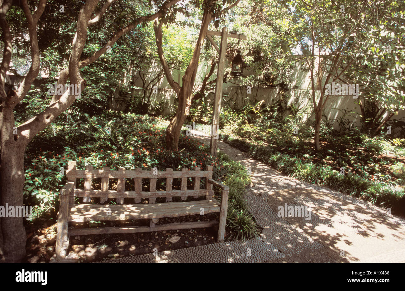 San Antonio Texas USA Spanish Governors palace house Garden seat ...