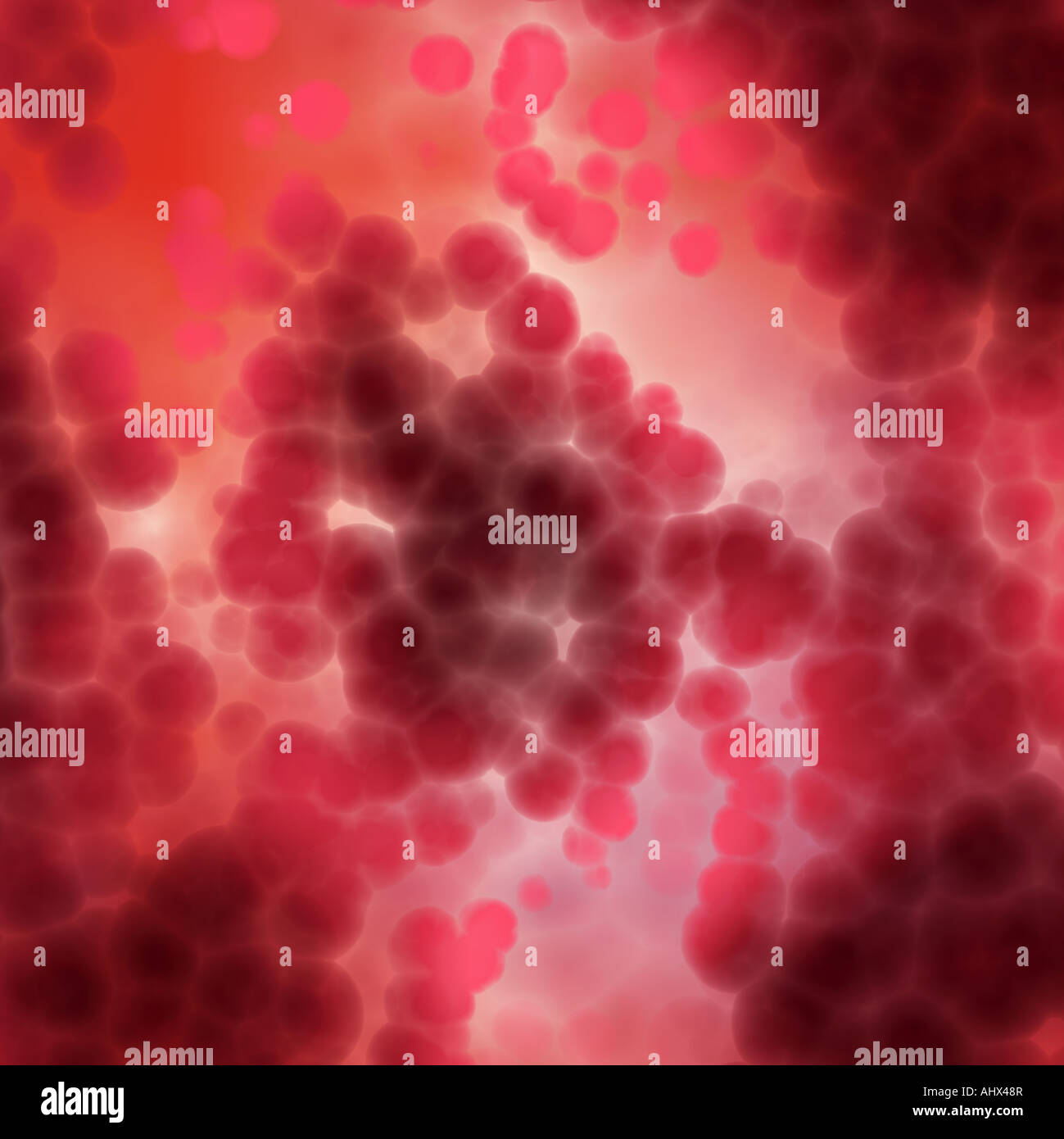lots of dna and cells or a lava lamp - Stock Image