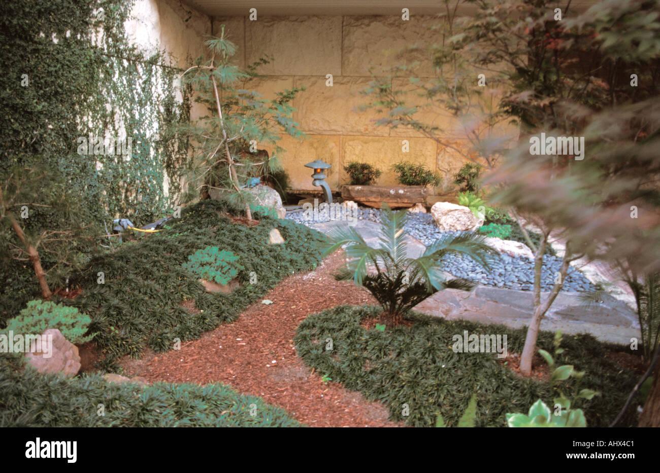 San Antonio Texas USA Botanical Garden Japanese style garden Stock ...