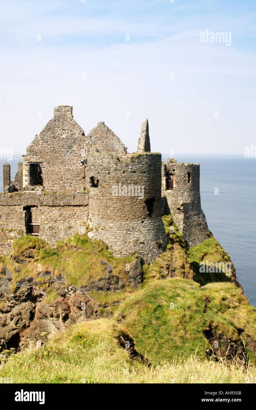 Dunluce Castle, North Antrim, Northern Ireland. - Stock Image