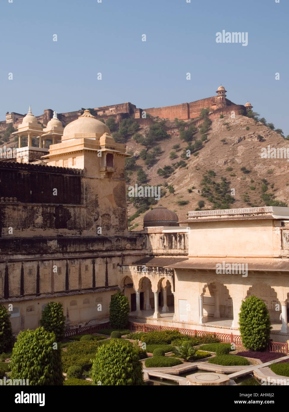 Amber Jaipur One of inner courtyard gardens of Amber Palace inside ...