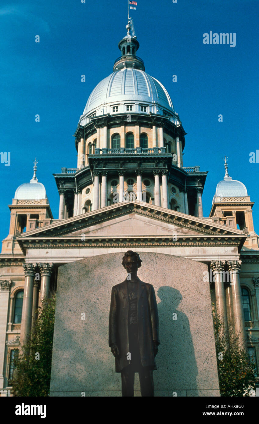 State Capitol of Illinois Springfield - Stock Image