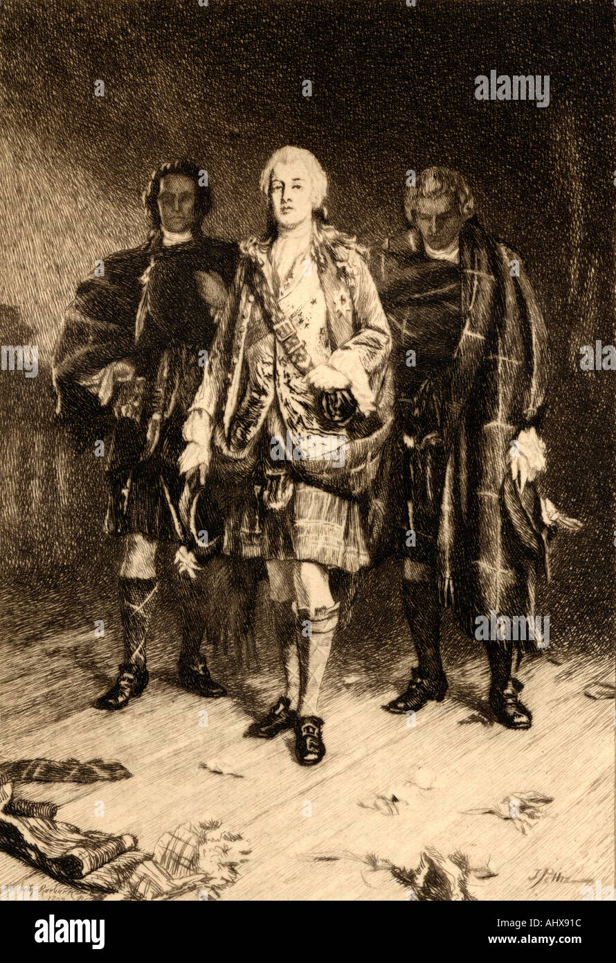 Charles Edward Stuart The Young Pretender Bonnie Prince Charlie 1720 1788 Claimant to the British throne - Stock Image