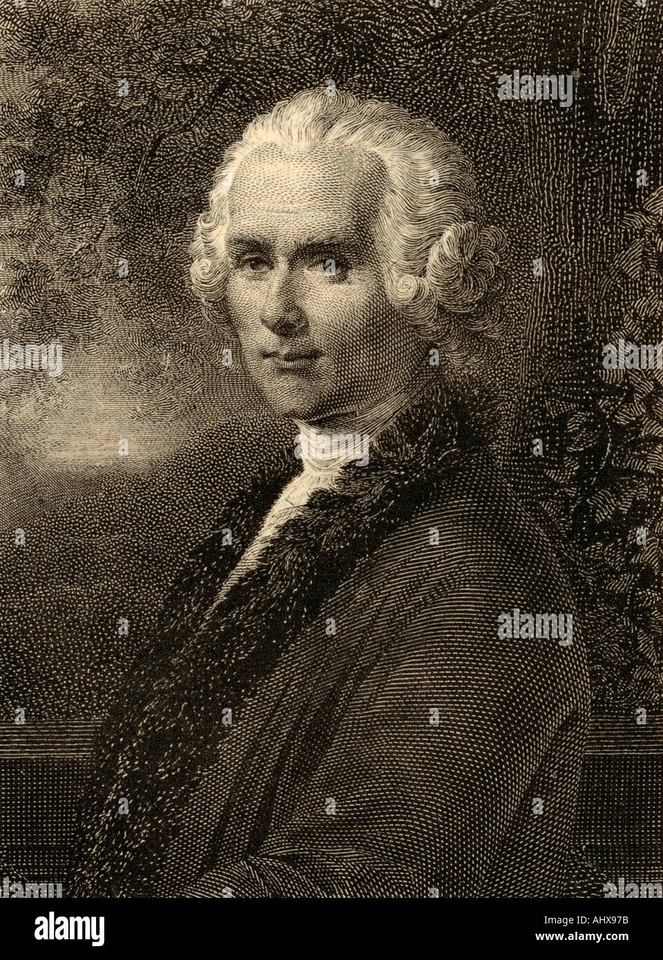 Jean-Jacques Rousseau. 1712 - 1778. Swiss philosopher. - Stock Image
