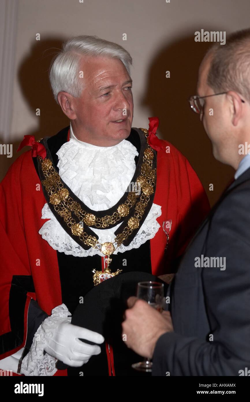 Robin Jowit His Worship the Lord Mayor of Richmond on Thames at Mayor Making Ceremony May 2005 - Stock Image