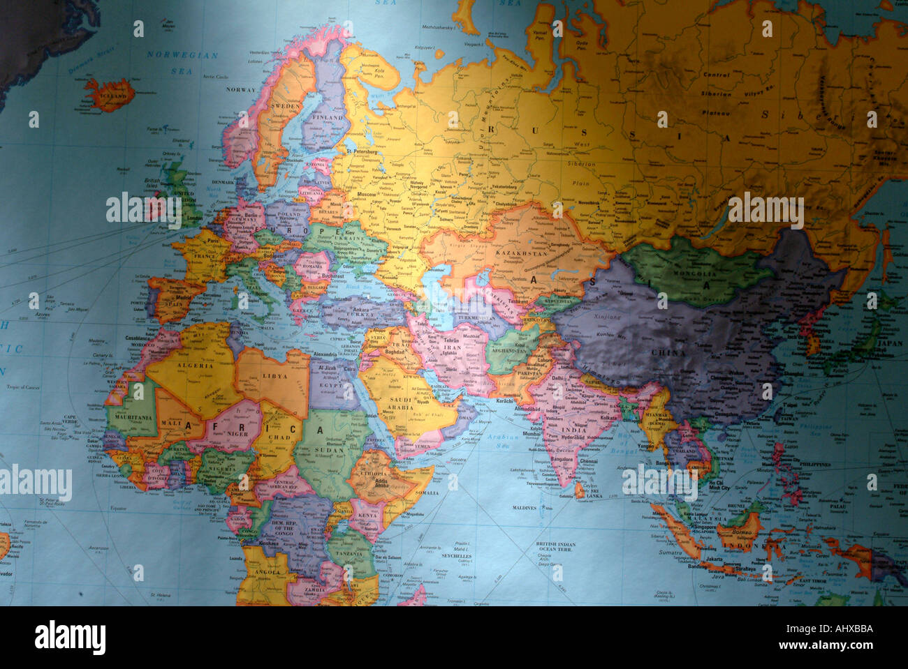World Map Countries Continents.Illustrated World Map Countries Continents Stock Photos