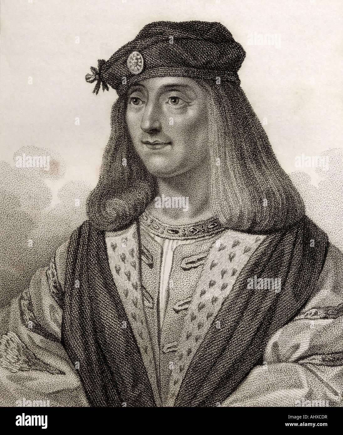 James IV,  1473 – 1513.   King of Scotland - Stock Image