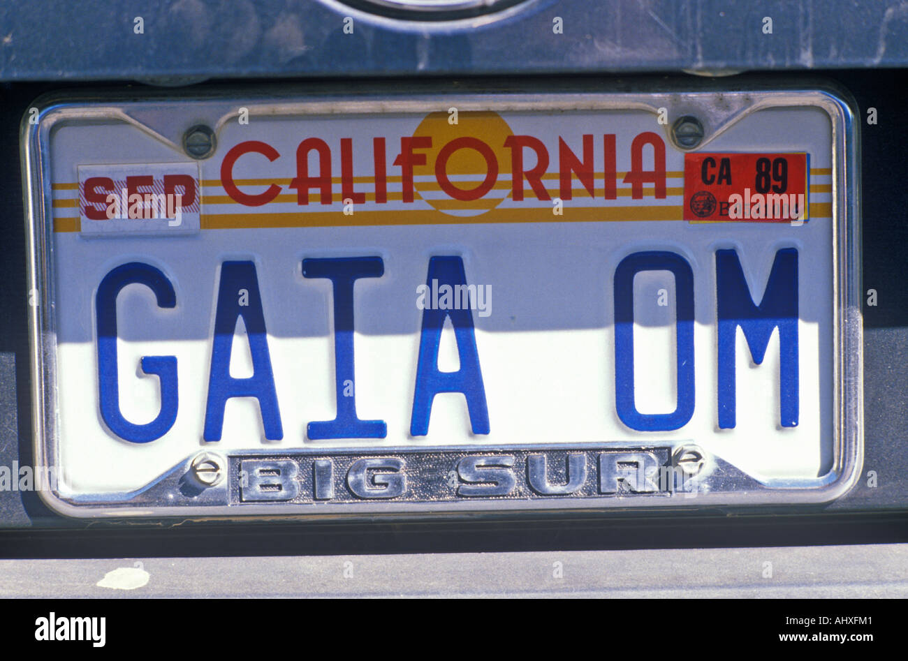 Vanity License Plate California - Stock Image
