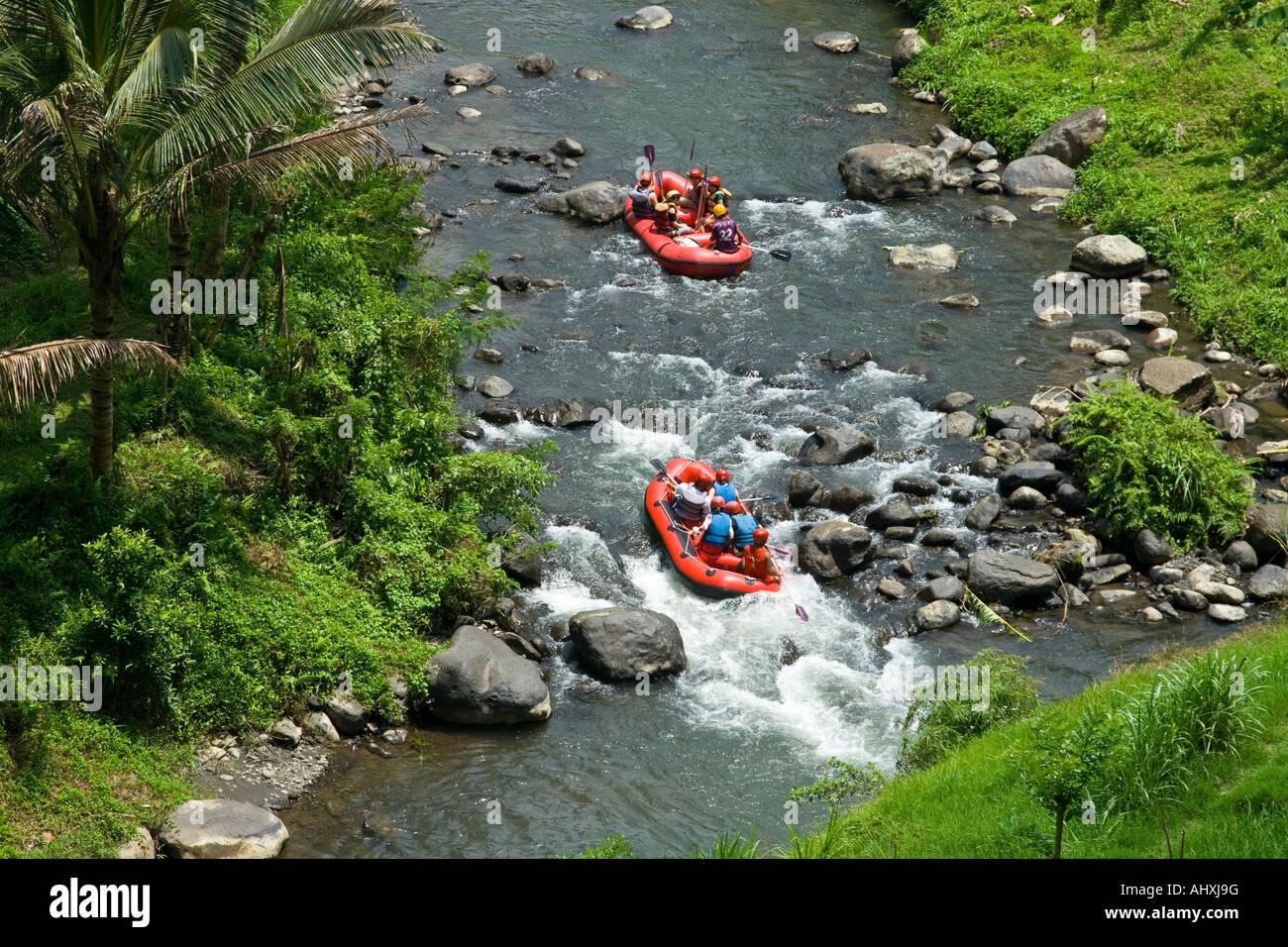 White Water Rapid Rafting Ayung River Gorge Ubud Bali Indonesia Stock Photo Alamy
