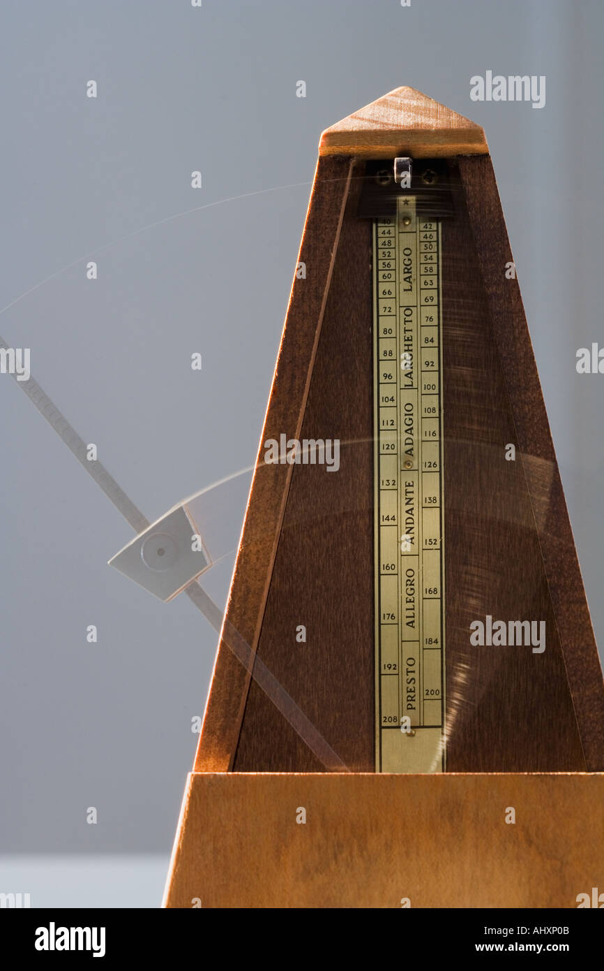 Old fashioned metronome - Stock Image