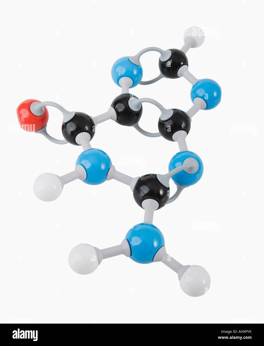 Close up of molecular model - Stock Image