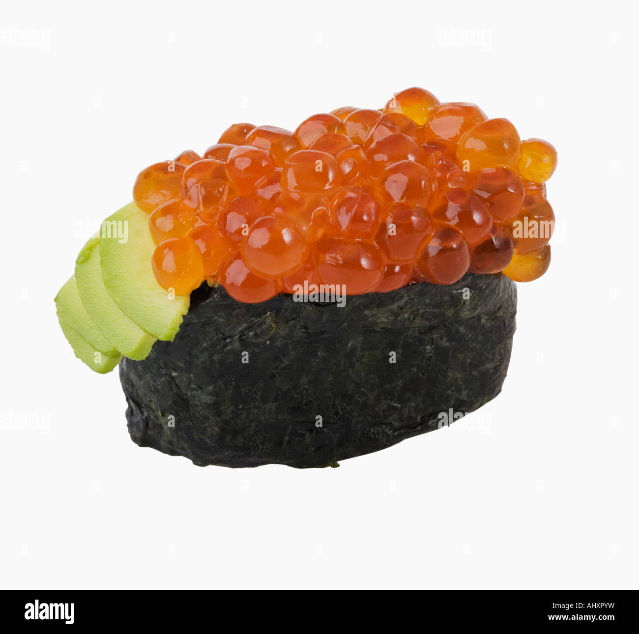 Close Up Of Fish Roe Sushi Stock Photo 14565036 Alamy