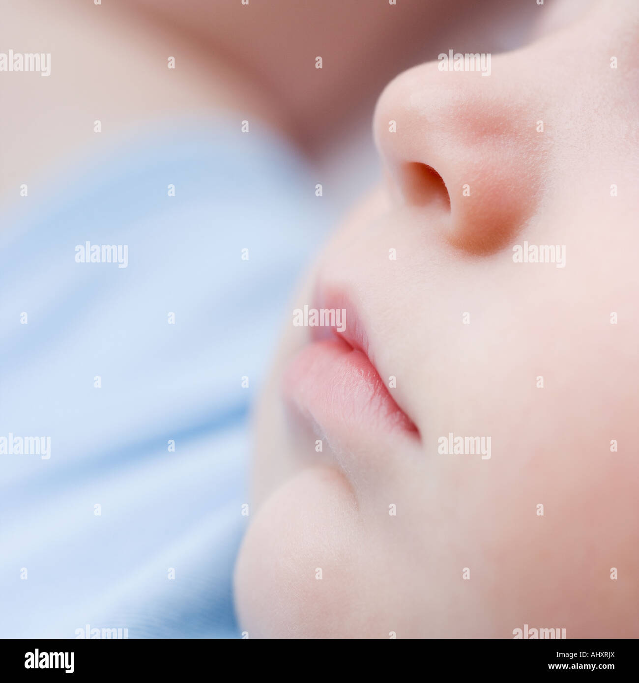 Close up of baby's face - Stock Image