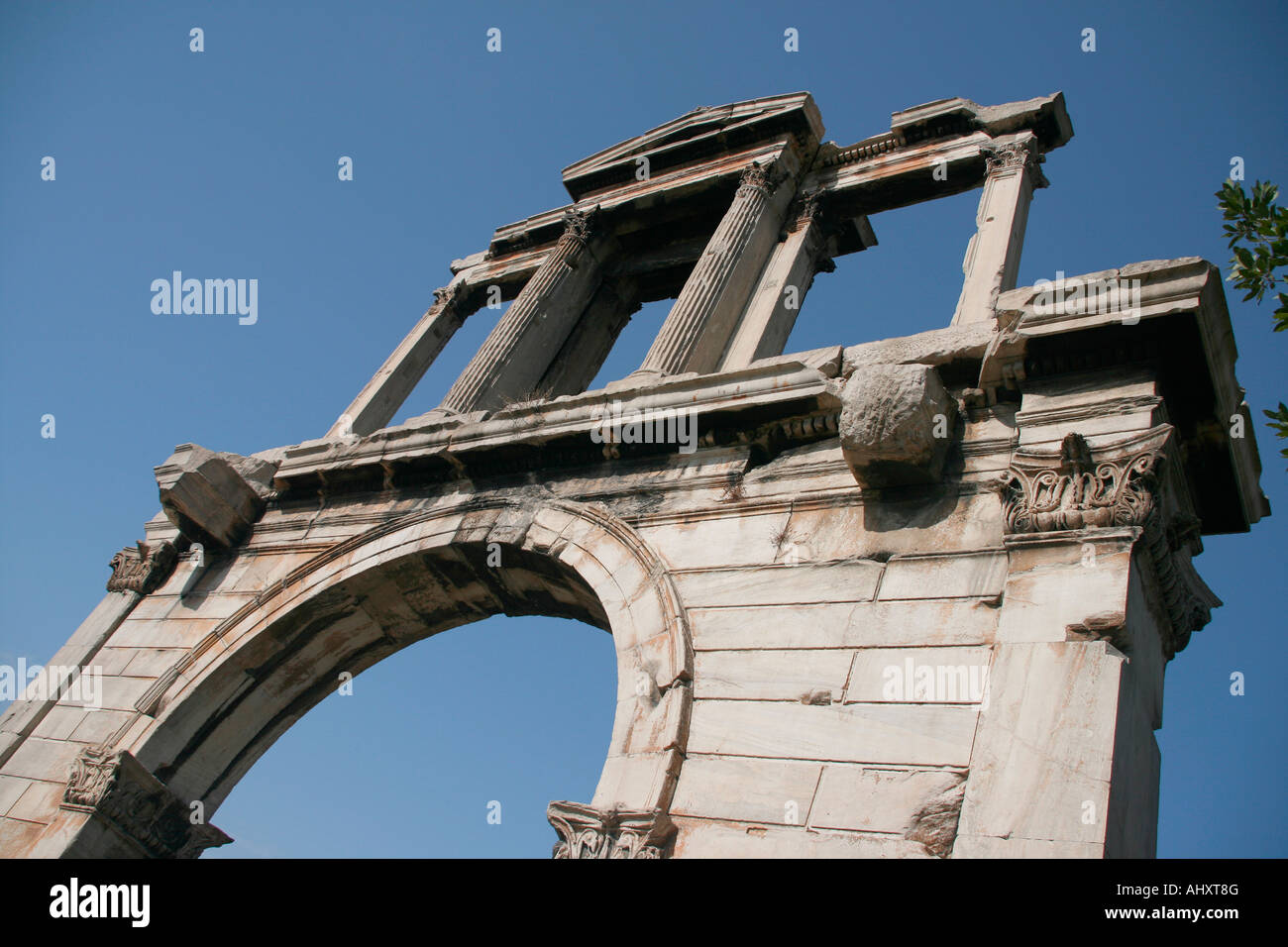 Hadrian s Arch landmarks in Athens greece - Stock Image
