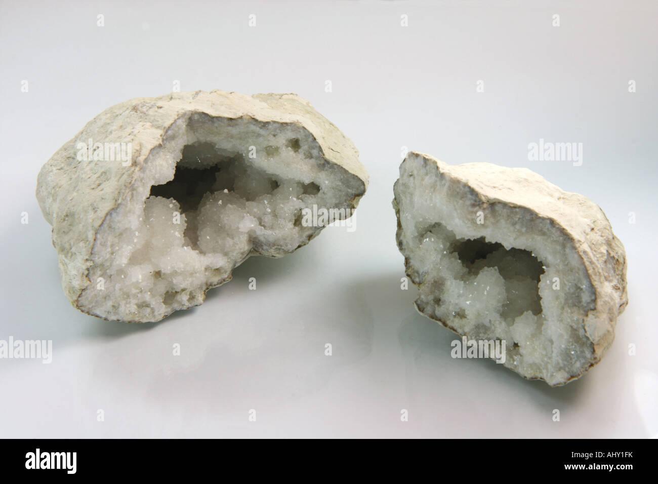crystal stone from sahara desert - Stock Image