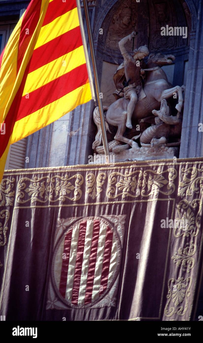 Catalonian flag. - Stock Image