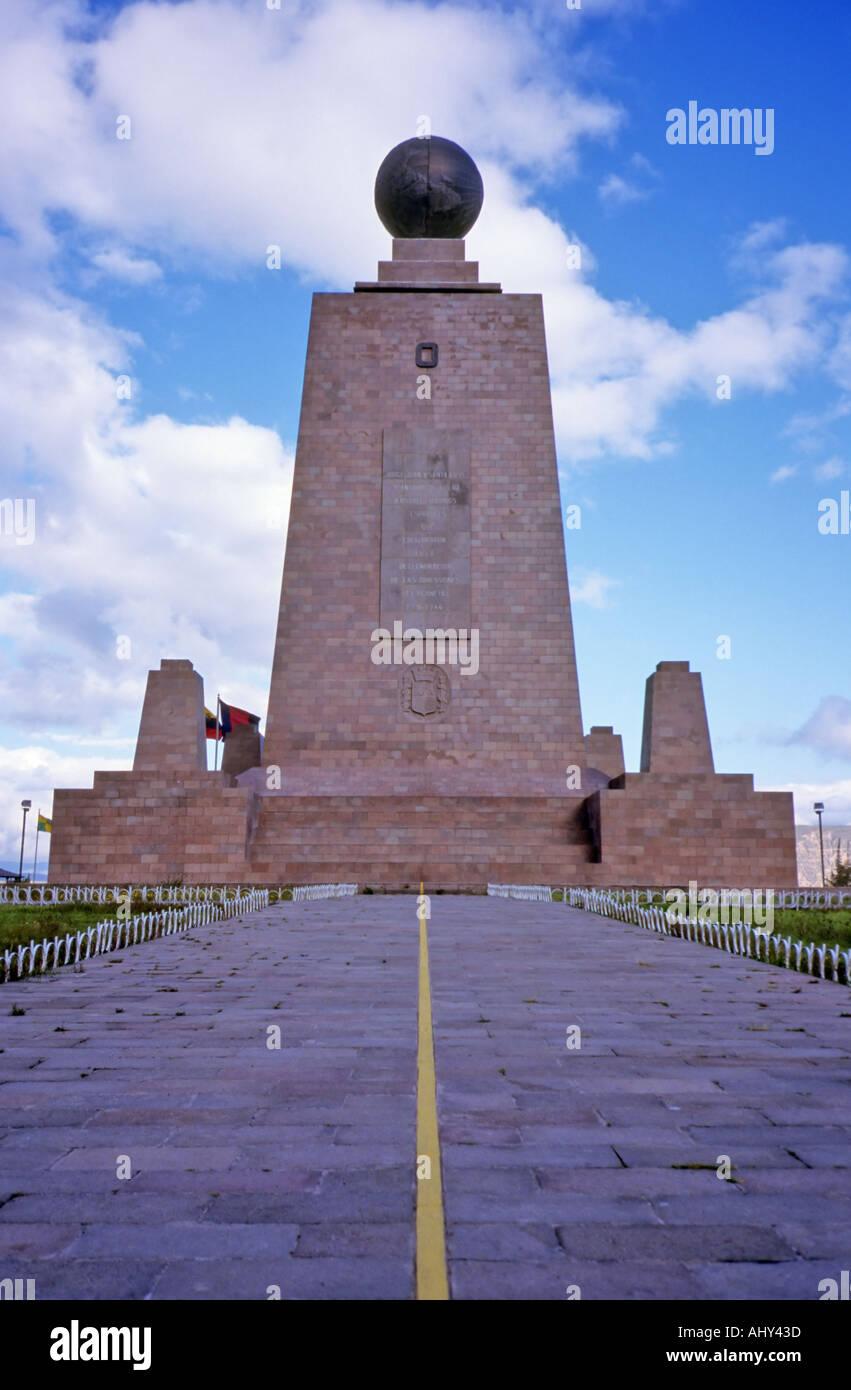 Mitad del Mundo, Monument at the Equator, Ecuador - Stock Image