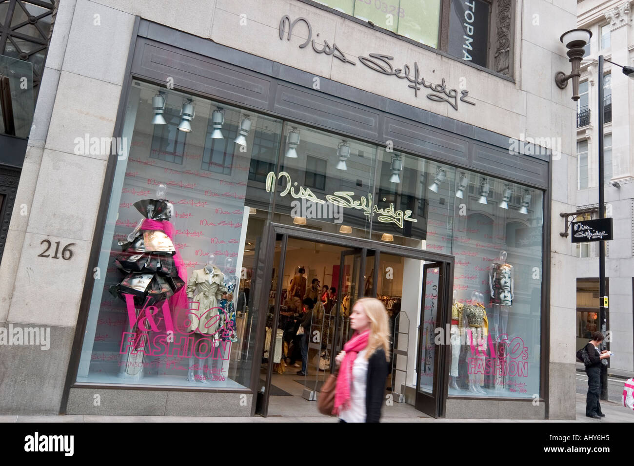 2f43c36d10372 Miss Selfridge clothes store on Oxford street - Stock Image