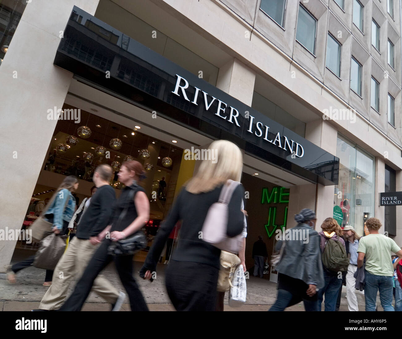 River Island store on Oxford Street London Stock Photo