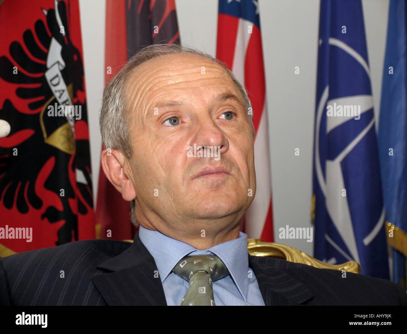 Fatmir Sejdiu - President of Kosovo, a Serbian province under UN administration since the 1999 Kosovo War Stock Photo