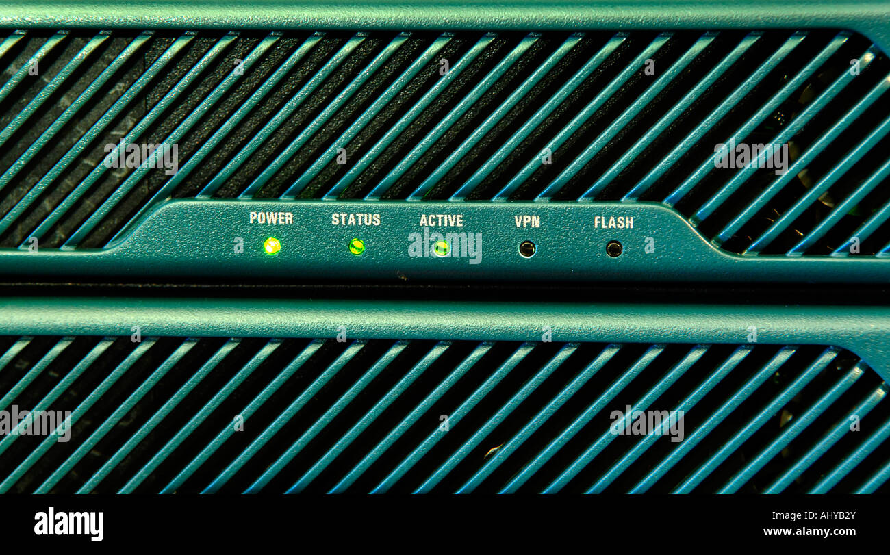 Cisco ASA 5510 Firewall Appliance front Panel and LEDs Stock