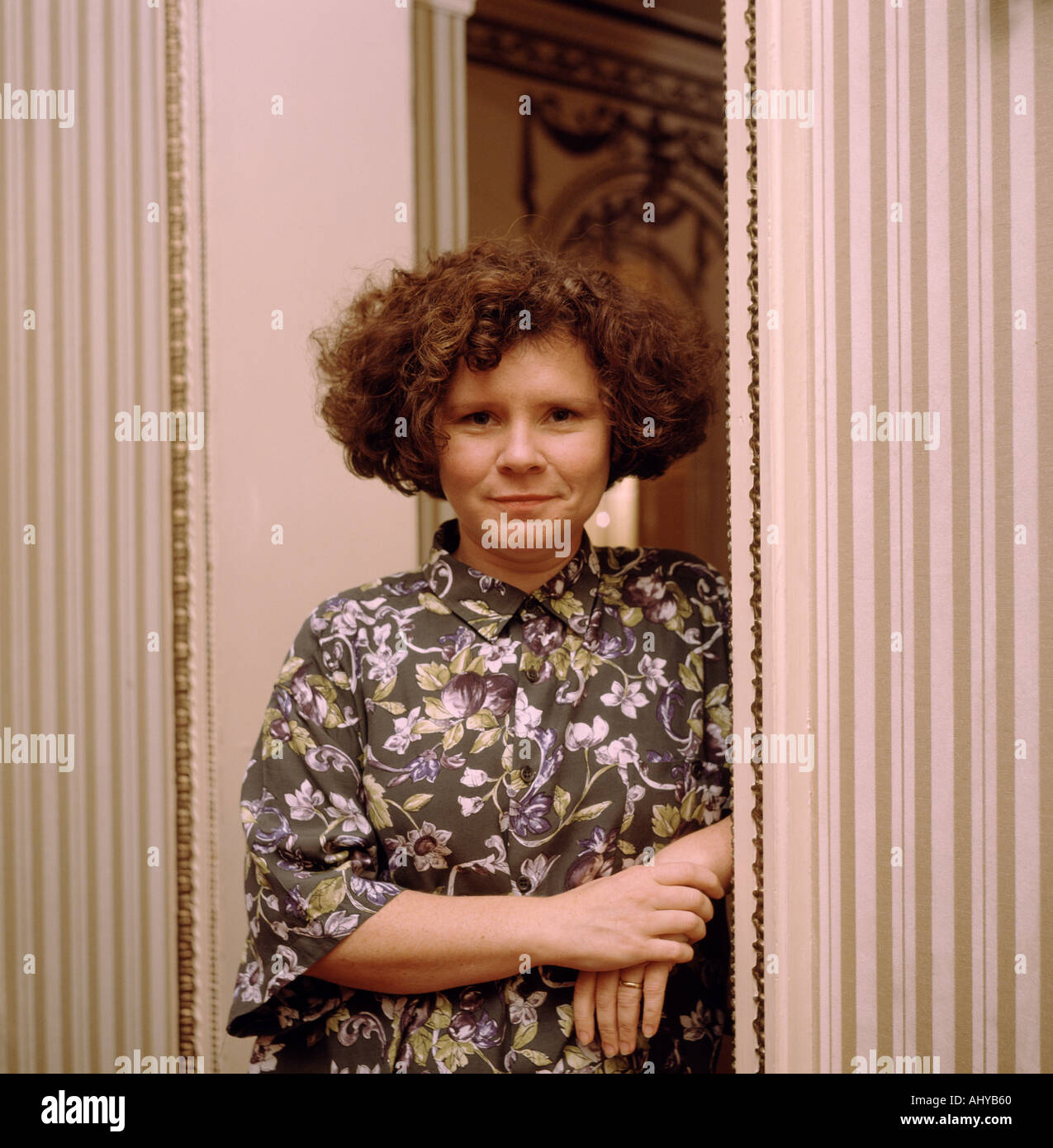 The British actress Imelda Staunton in London in England in Great Britain in the United Kingdom - Stock Image