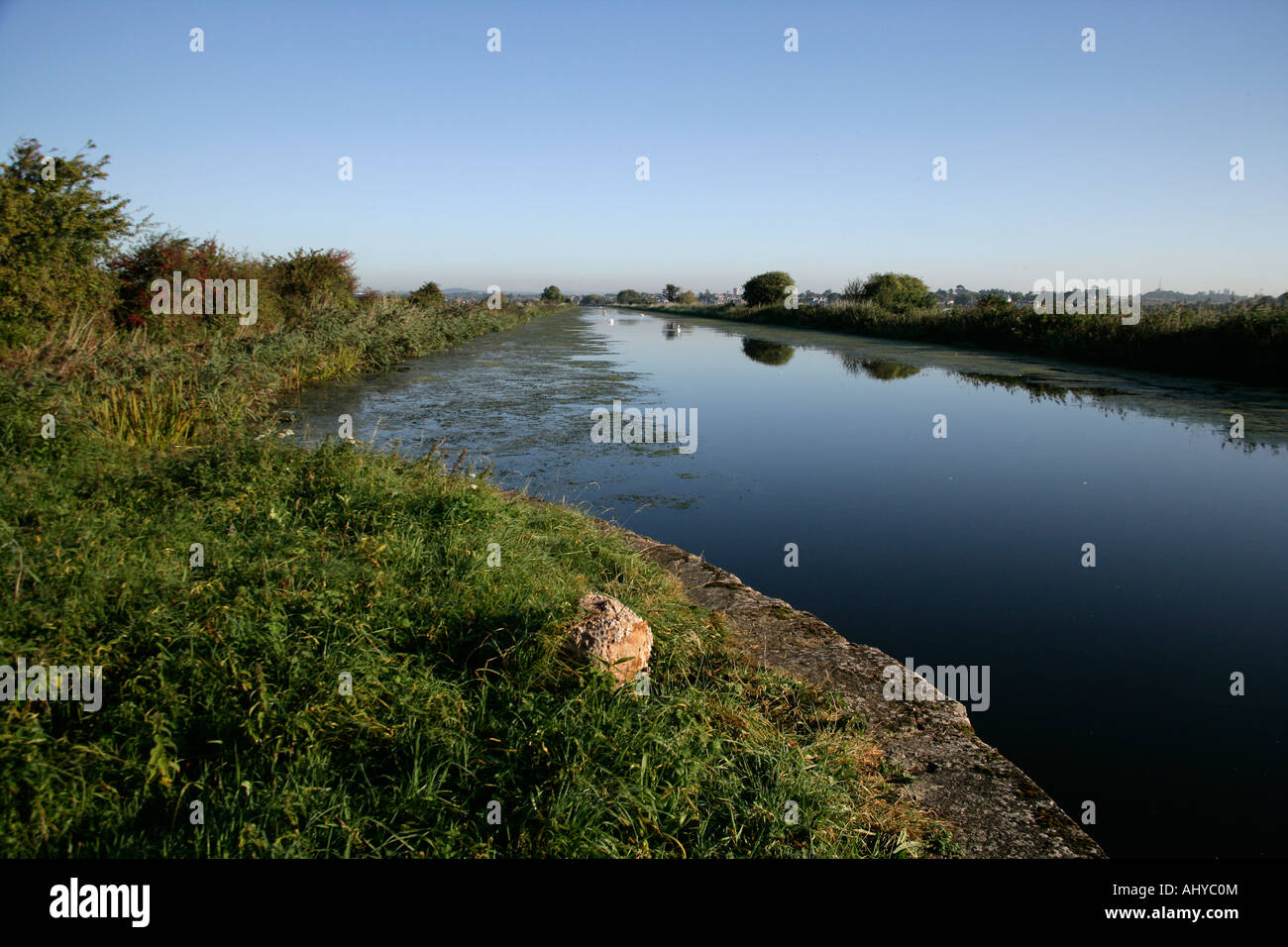 Exeter Canal Devon Part of Exe estuary - Stock Image