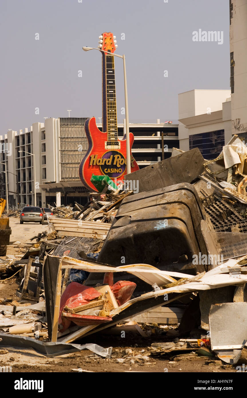 Hurricane Katrina Damage In Biloxi Mississippi Usa Stock Photo Alamy