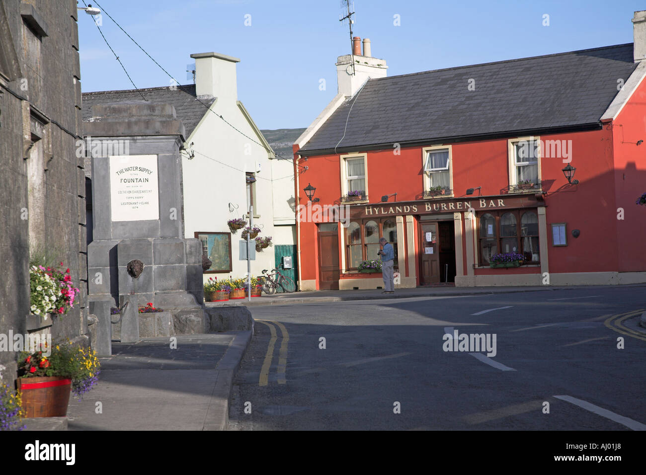Hylands Burren Hotel in the centre of Ballyvaughan village County Clare Ireland - Stock Image