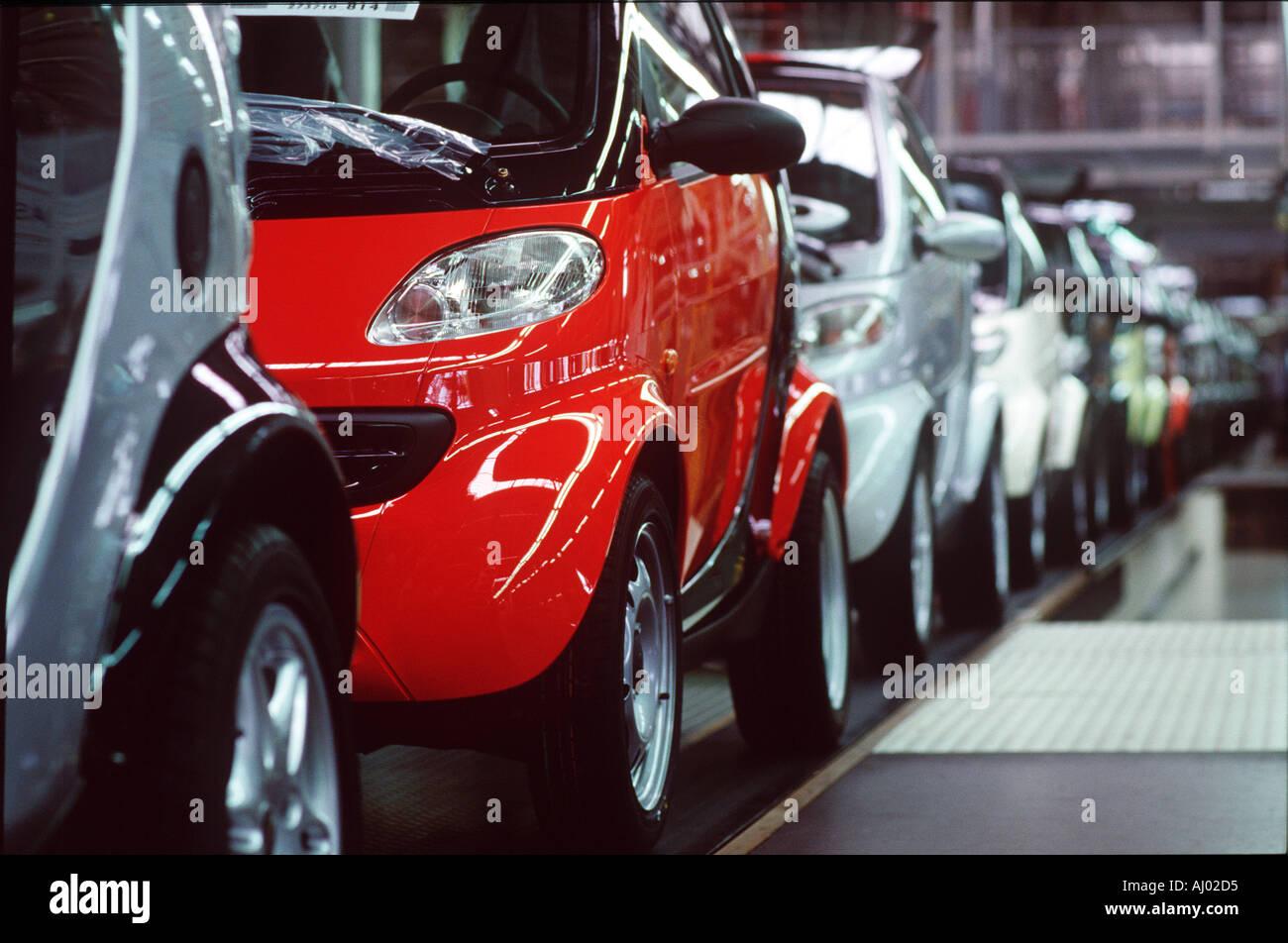 Credit line is mandatory John Angerson. Smart car  factory France Stock Photo