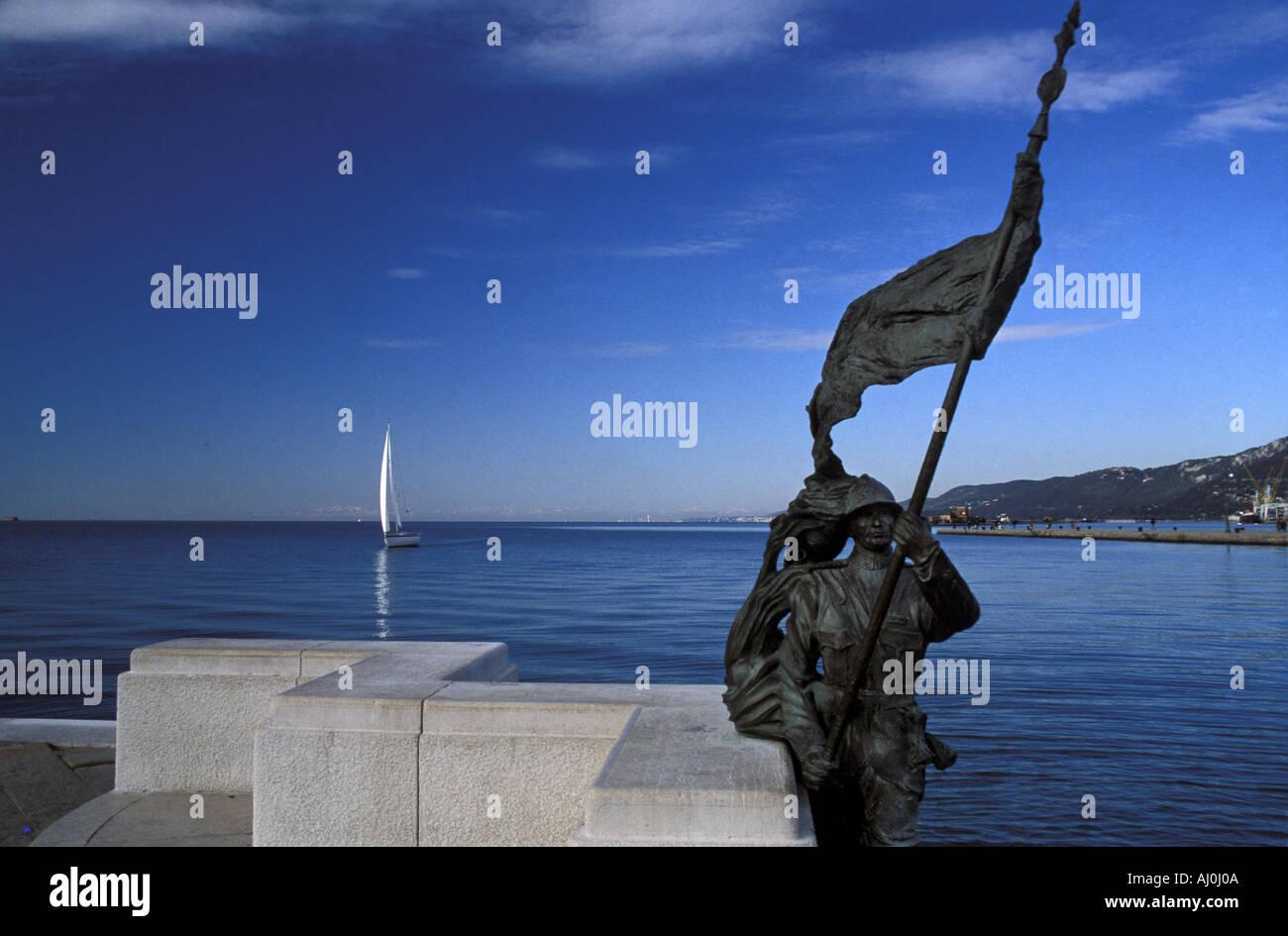 Audace wharf Trieste Friuli Venezia Giulia Italy Stock Photo