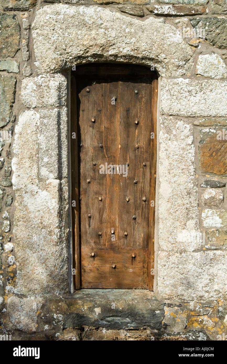 Small wooden door St. Mellanus church Mullion Cornwall & Small wooden door St. Mellanus church Mullion Cornwall Stock ...