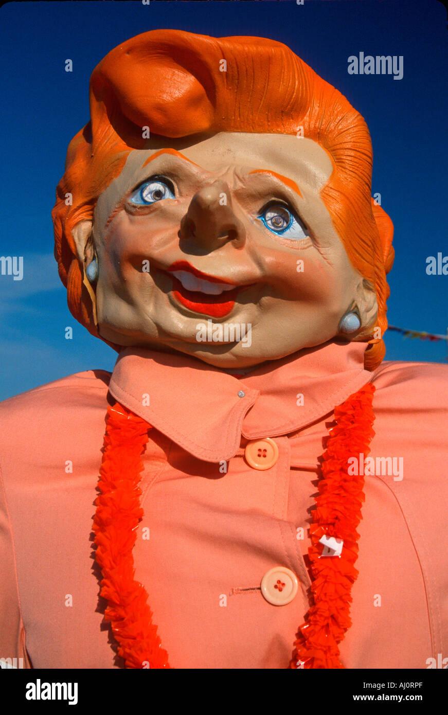 Roadside attraction of caricature of Margaret Thatcher Nova Scotia - Stock Image