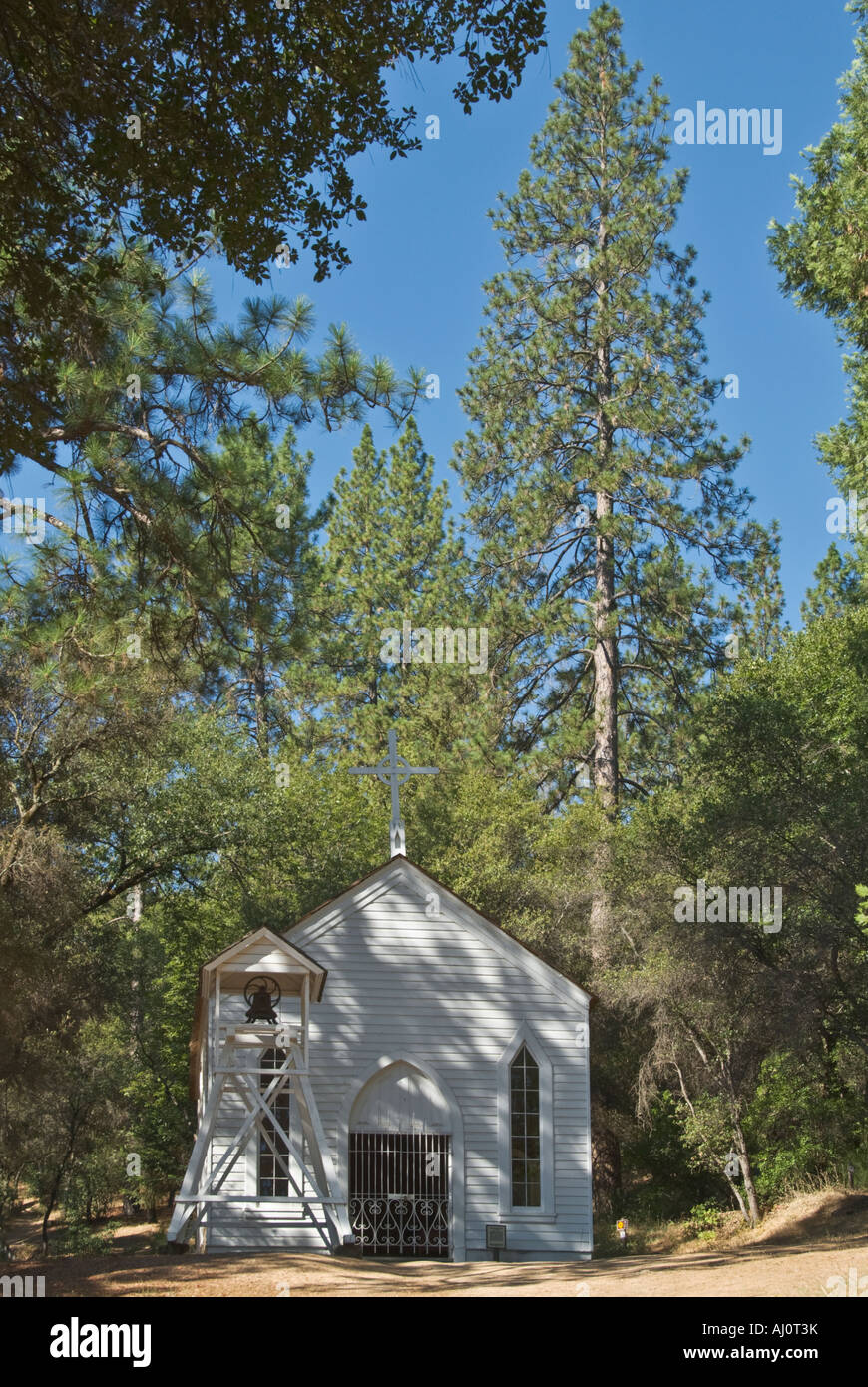 California Gold Country Coloma Marshall Gold Discovery State Historic Park Saint John s Catholic Church built 1856 - Stock Image