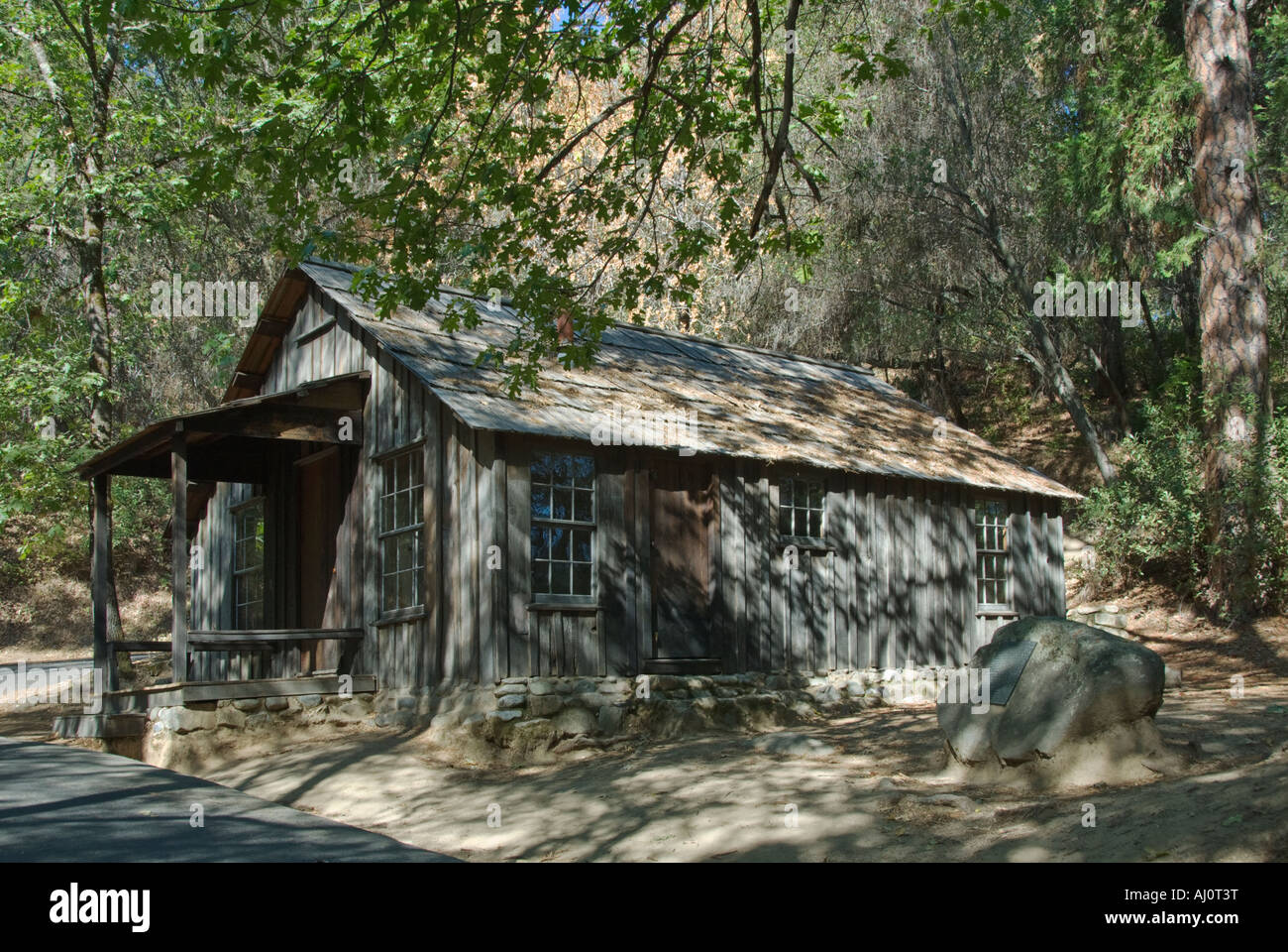California Gold Country Coloma Marshall Gold Discovery State Historic Park cabin occupied by James Marshall from - Stock Image